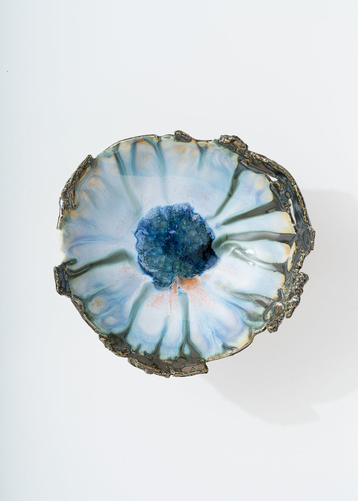 MINH SINGER FOOTED ICELAND SHELL DISH