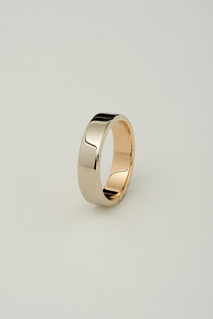WHITE GOLD TWO TONE BAND