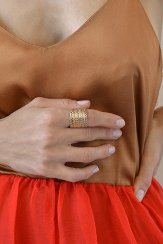 SOPHIE RING IN BRASS