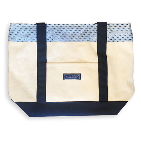 Classic Vineyard Vines Canvas Tote