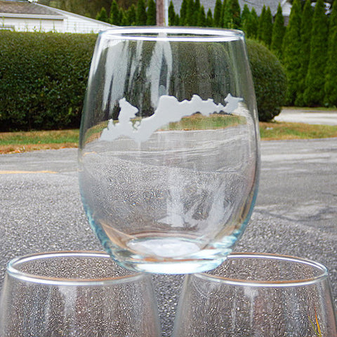 Engraved FI Stemless Wine Glass