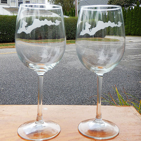 Engraved FI Stemmed Wine Glass