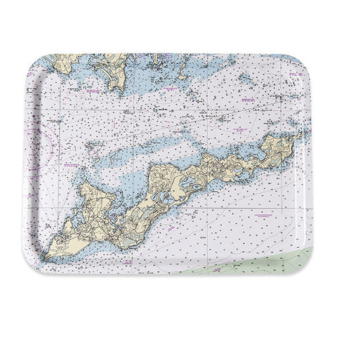 Fishers Island TV Tray – NOAA Chart