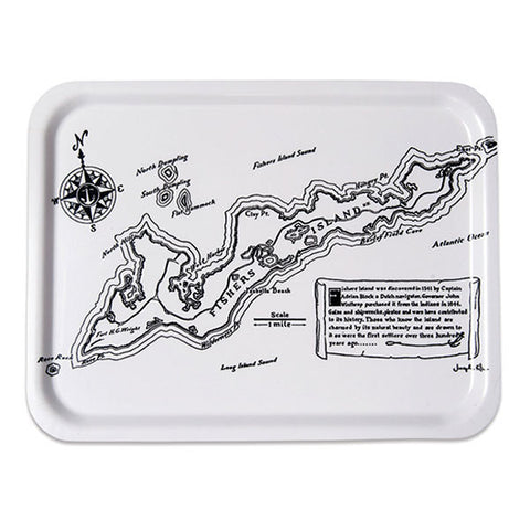 Fishers Island TV Tray – Vintage Map