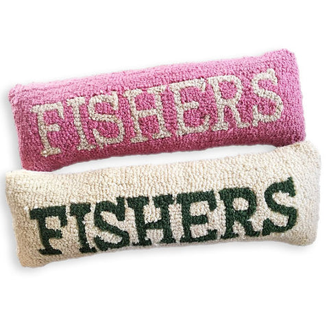 Hooked FISHERS Pillows