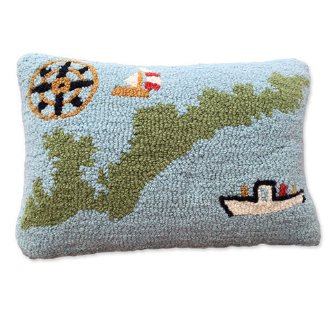Hooked FI Map Pillow