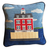New London Ledge Lighthouse Needlepoint Pillow