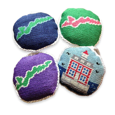 S&B Needlepoint Holiday Ornaments