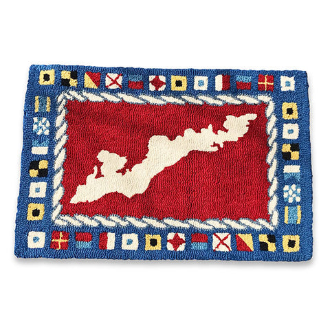 Signal Flag Hooked Rug