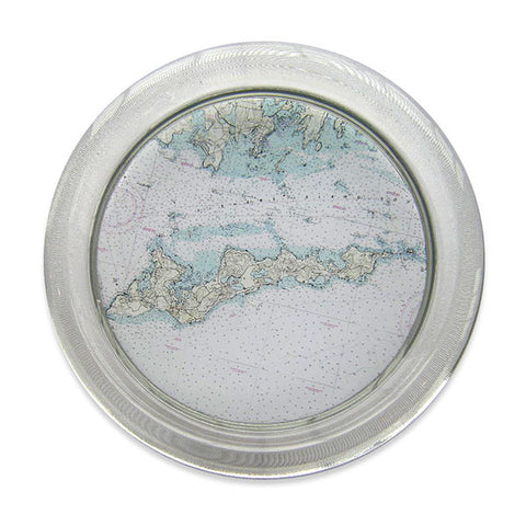 Decoupage Wine Coaster - NOAA Nautical Chart