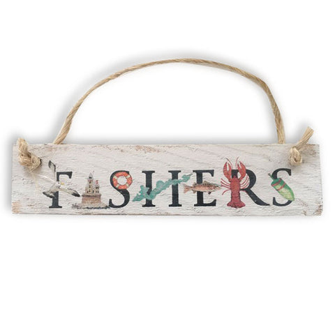 Wooden FISHERS Ornament