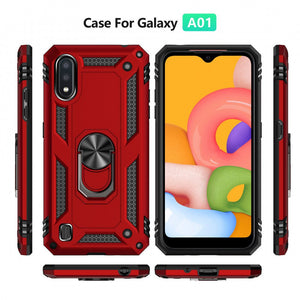 Samsung Galaxy A01 Phone Case with Ring Grip