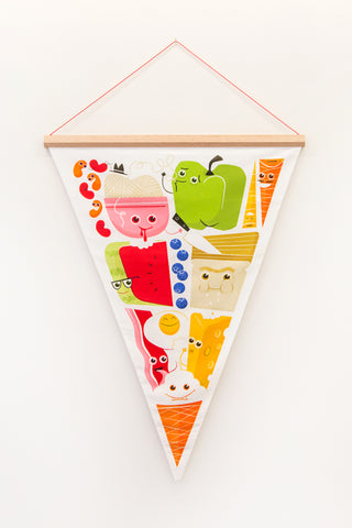 The Food Pyramid Pennant Scroll, Nestling Collection