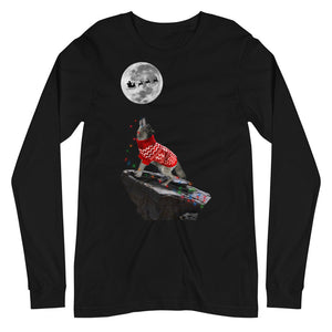 Howling Wolf Multi Lights - Unisex Long Sleeve Tee