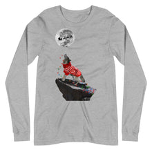 Load image into Gallery viewer, Howling Wolf Multi Lights - Unisex Long Sleeve Tee