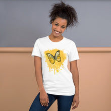 Load image into Gallery viewer, Butterfly - Golden - Short-Sleeve Unisex T-Shirt