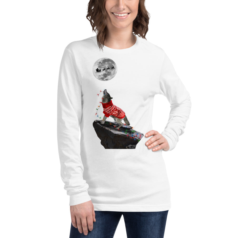 Wolf Multi Lights - Unisex Long Sleeve Tee