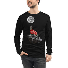 Load image into Gallery viewer, Wolf White Lights - Unisex Long Sleeve Tee