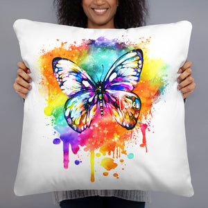 Butterfly Multi Pillow - White
