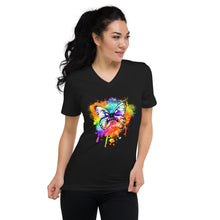 Load image into Gallery viewer, Unisex Short Sleeve V-Neck T-Shirt