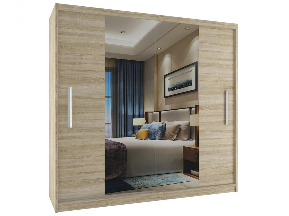 Sliding Wardrobe With Mirror (YMONOCE )