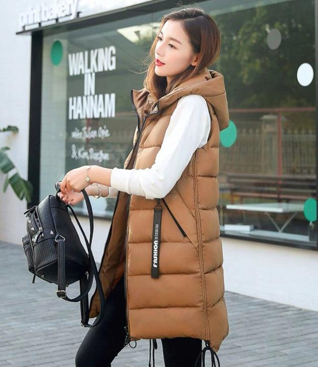 Women's Quilted Long Down Vest