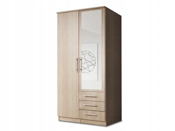 2 Doors Wardrobe With Mirror LATNASZ-II