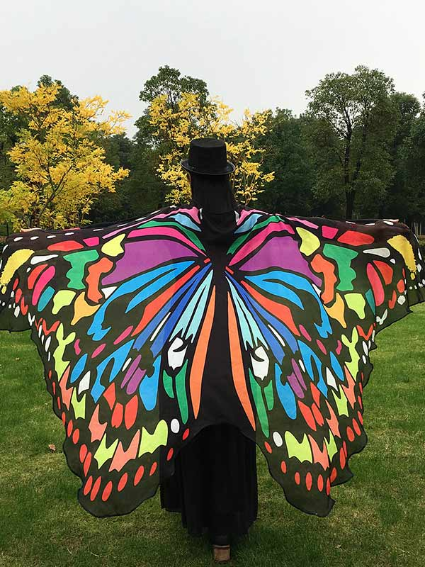Lady Rainbow Butterfly Wings Shawl