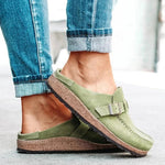 Women's Suede Round-Toe Comfortable Slippers