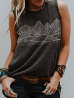 Women's mountains Print Vest