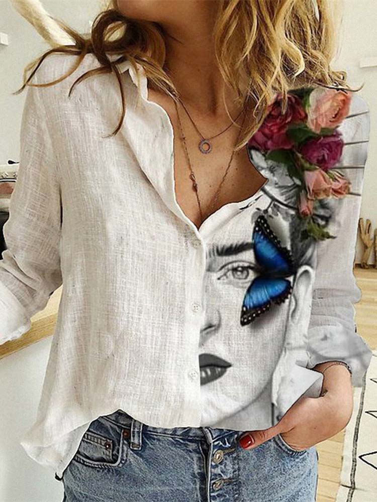 Women's Frida Kahlo Butterfly Shirt