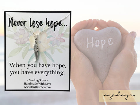 never lose hope when you have faith you have everything inspirational quote