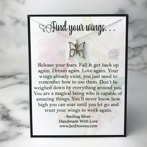 find your wings inspirational quote