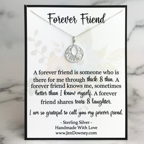 forever friend quote friendship poem gift idea