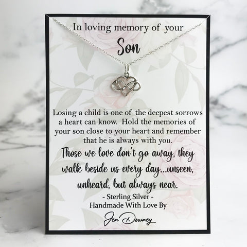 in loving memory of your son memorial gift sympathy quote