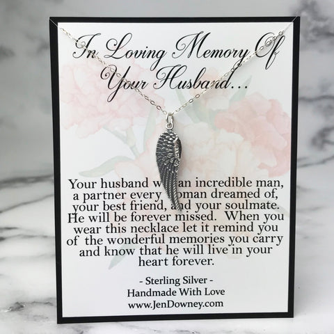 meaningful sympathy gift loss of husband quote