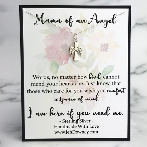 mama of an angel miscarriage quote gift