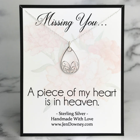 a piece of my heart is in heaven sympathy quote