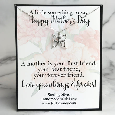Mother's Day Quote Forever Friend Mom Gift idea