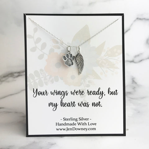 Your wings were ready pet sympathy quote