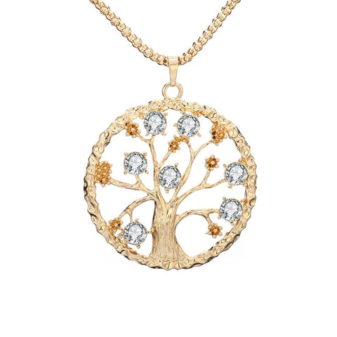Collier Arbre de Vie Fruit de Cristaux