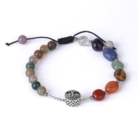 Bracelet Arbre de Vie Simple Agate indienne