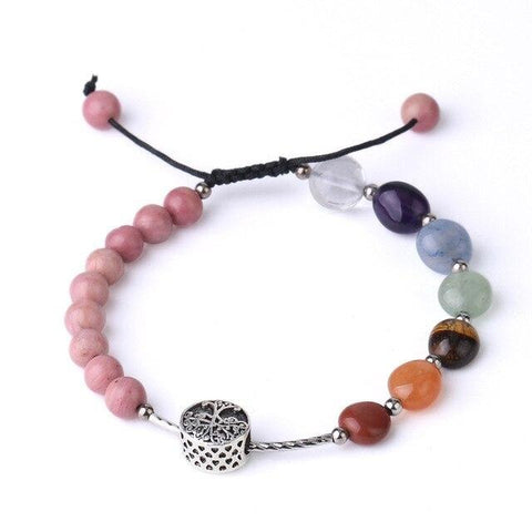 Bracelet Arbre de Vie Simple Rhodonite