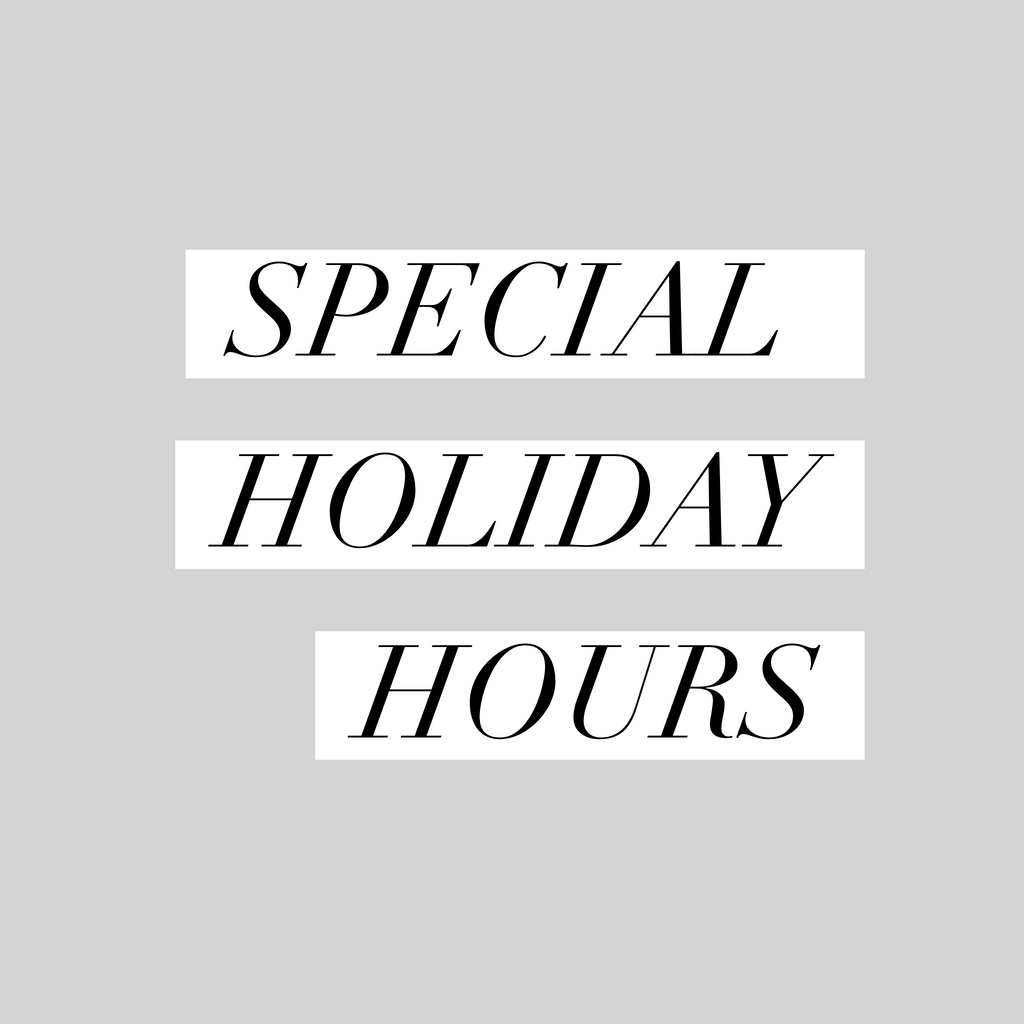 Holiday Hours December 2016