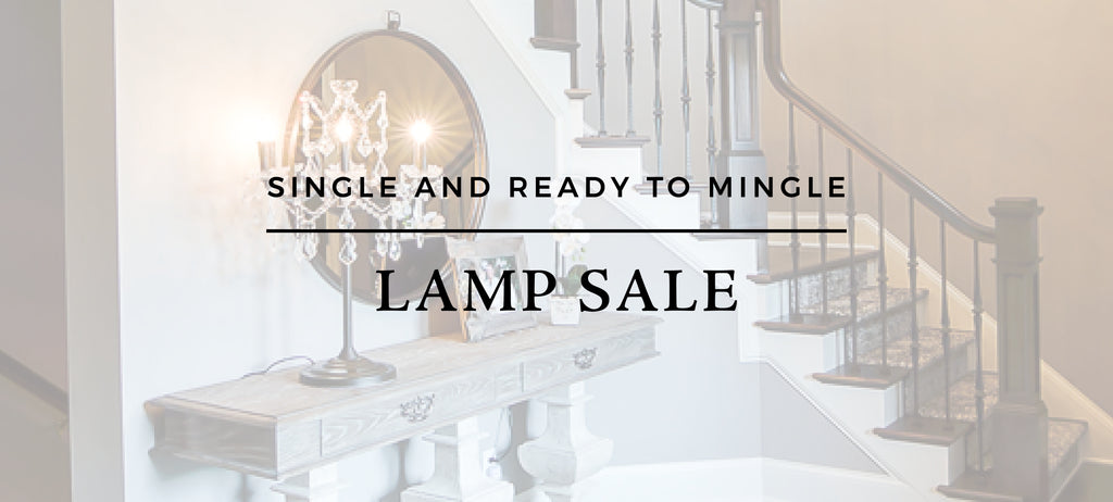 THE SINGLE AND READY TO MINGLE LAMP SALE!