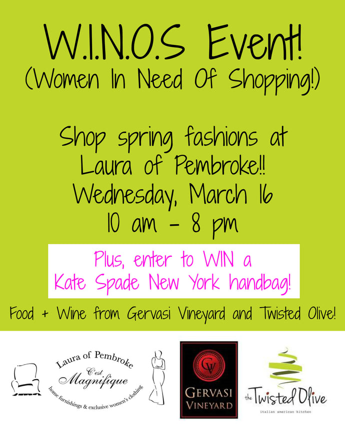 WINOS Spring Fashion Event (Women In Need Of Shopping!)