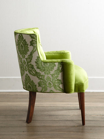chair in greenery color of the year