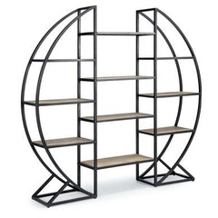 Circular decorative shelf