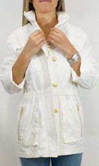 ciao milano rain coat jacket laura of pembroke wear white after labor day