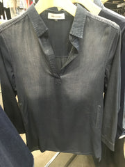 laura of pembroke blog buying trip new york city black denim dress